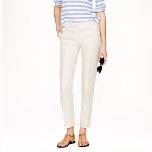 J.Crew City Fit Stretch White Cropped Pants